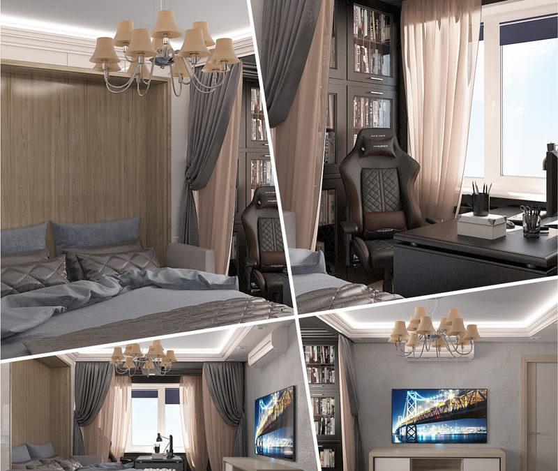 Спальня-кабинет. Москва
